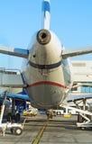 Passenger plane refueling. Stock Image