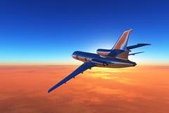 A passenger plane Stock Photography