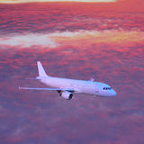Passenger plane. Royalty Free Stock Images