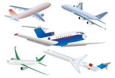 Passenger planes Stock Photo