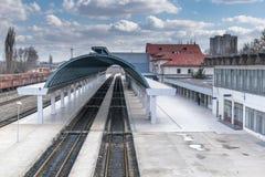 Passenger Platform. View of the passenger platform at the Chisinau Railway Station in Chisinau, Moldova Stock Image