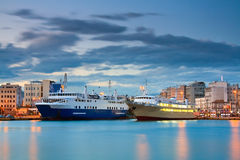Passenger port Piraeus, Athens. Royalty Free Stock Photography