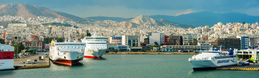 Passenger port Piraeus, Athens. Stock Photo