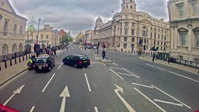 Passenger POV in double decker bus in London Royalty Free Stock Photo