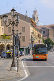 Passenger regular-route bus in Padova. PADOVA, ITALY - JULY, 9, 2016: passenger regular-route bus in Padova, Italy Royalty Free Stock Photo