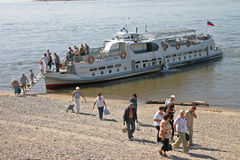 Passenger river boat. Royalty Free Stock Images