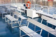 Passenger's Recreational Boat Deck Royalty Free Stock Photos