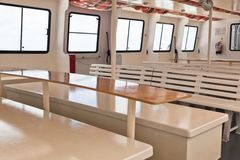 Passenger's Recreational Ship Interior Royalty Free Stock Image