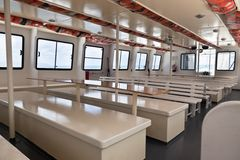 Passenger's Recreational Ship Interior Royalty Free Stock Images