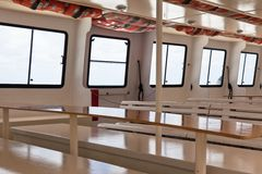 Passenger's Recreational Ship Interior Stock Photography