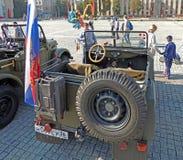 Passenger saloon of soviet military light truck of WWII GAZ-67 Stock Photography