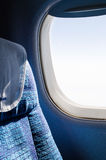 Passenger seat in an airplane Royalty Free Stock Images