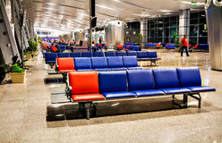 Passenger seat in the terminal or Departure lounge at the airpor Royalty Free Stock Photos