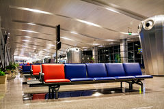 Passenger seat in the terminal or Departure lounge at the airpor Royalty Free Stock Photo