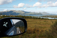 Passenger seat. View by car window from passenger seat Royalty Free Stock Image