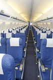 Passenger seats in airplane Royalty Free Stock Images