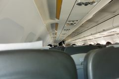 Passenger seats at the airplane. Passenger seats in the airplane Royalty Free Stock Image