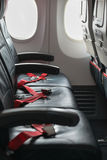 Passenger Seats on a Commercial Airliner Royalty Free Stock Images