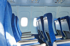 Chairs in the plane Stock Photography