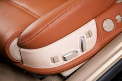 Passenger seats in modern  comfortable car Stock Images