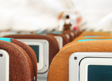 Passenger seats on plane Royalty Free Stock Photography