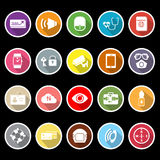 Passenger security flat icons with long shadow. Stock Royalty Free Stock Photo