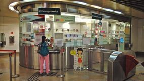 Passenger service office - MRT station Royalty Free Stock Images