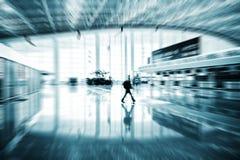 Passenger in the Shanghai Airport. Shanghai airport interior passenger flow scene Stock Photography