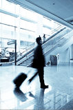 Passenger in the Shanghai Airport Royalty Free Stock Photos