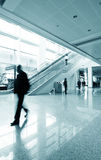 Passenger in the Shanghai Airport. Shanghai airport interior passenger flow scene Stock Photos
