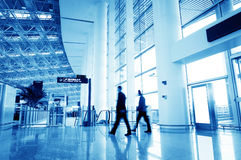 Passenger in the shanghai pudong airport. Interior of the airport Royalty Free Stock Photography