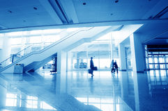 Passenger in the shanghai pudong airport. Interior of the airport stock images