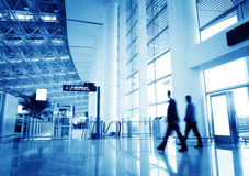 Passenger in the shanghai pudong airport. Interior of the airport royalty free stock photo