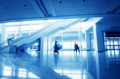 Passenger in the shanghai pudong airport. Interior of the airport Stock Photography