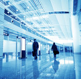 Passenger in the shanghai pudong airport. Interior of the airport stock image