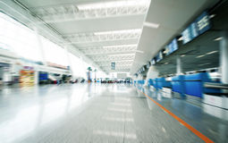 Passenger in the shanghai pudong airport. Interior of the airport Royalty Free Stock Photos