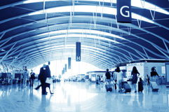 Passenger in the shanghai pudong airport Royalty Free Stock Photos