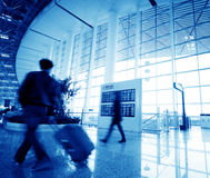 passenger in the shanghai pudong airport Royalty Free Stock Image