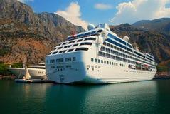 Passenger ship. Large passenger ship in marine port stock image