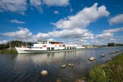 Passenger ship. On the lake, Masuria, Poland royalty free stock photos