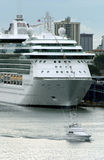 Passenger ship. Passenger cruise ship ready for departure Royalty Free Stock Photo