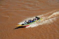 Passenger ship. Thai passenger ship, travel in mekong river Stock Image