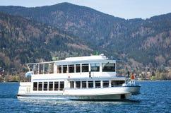Passenger ship. At the tegernseer lake near munich - germany royalty free stock photography