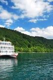 Passenger ship. At Lake Towada formed from an extinct volcano. Aomori, Japan royalty free stock photos