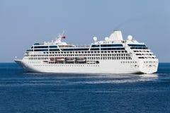 Passenger ship. Afloat side leaving stock images