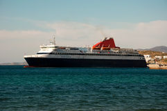 Passenger ship arrived in the port of destination Royalty Free Stock Photos