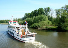 Passenger ship in the Biesbosch National Park, Royalty Free Stock Image