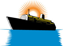 Passenger ship boat Stock Image