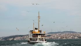 The Passenger ship in Bosporus. Stock Images