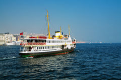 Passenger ship in Bosporus, Istanbul. Turkey Royalty Free Stock Photography